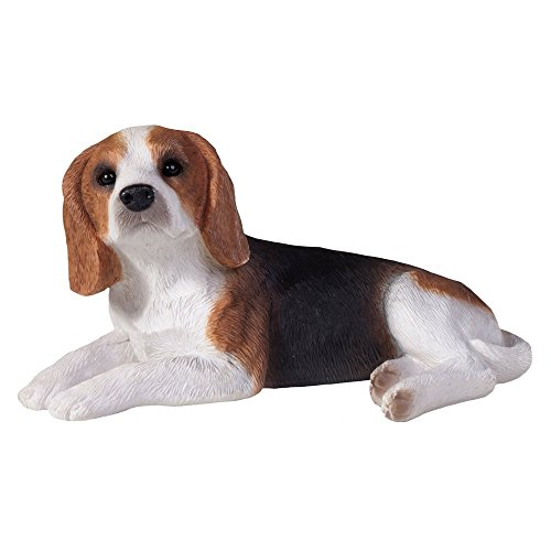 Sandicast Beagle Sculpture, Lying, Small Size