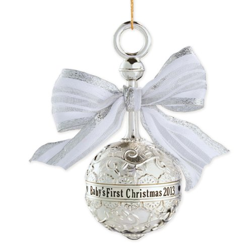Carlton Heirloom Ornament 2013 Baby's First Christmas – Metal Rattle – #CXOR001D
