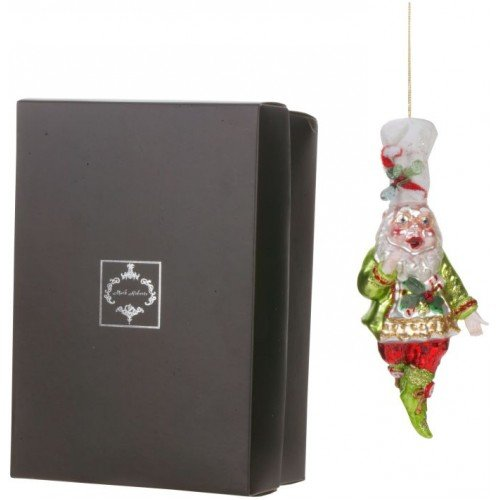 Mark Roberts Blown Glass Festivities Elf Ornament – Beautifully Gift Boxed – Comes Packaged with a Tropical Magnet
