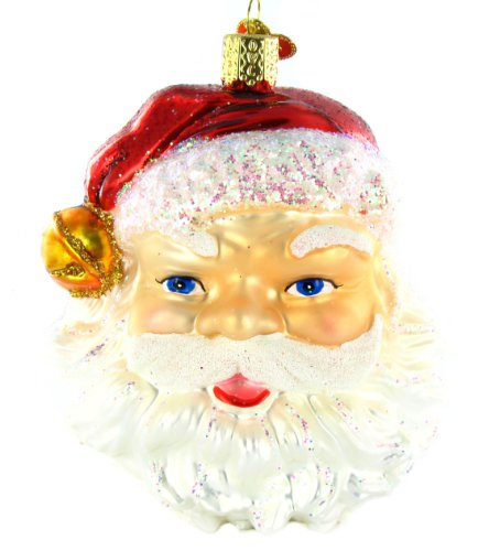 Old World Christmas Jingle Bell Santa Ornament