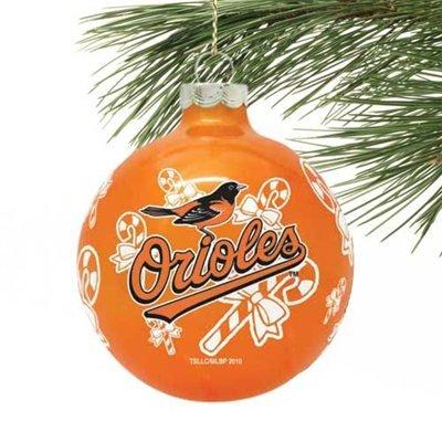 Baltimore Orioles Glass Ball Ornament
