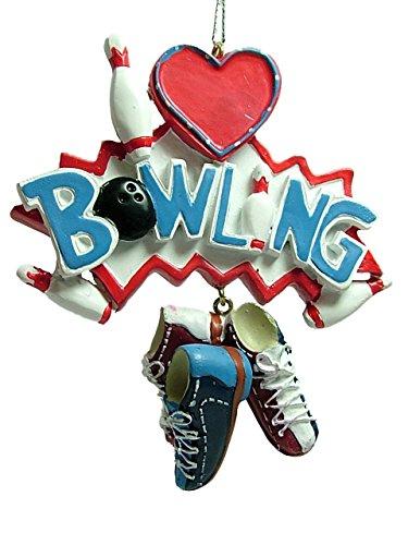 Midwest I Love Bowling Pins Shoes Ball Strike Split Christmas Tree Ornament