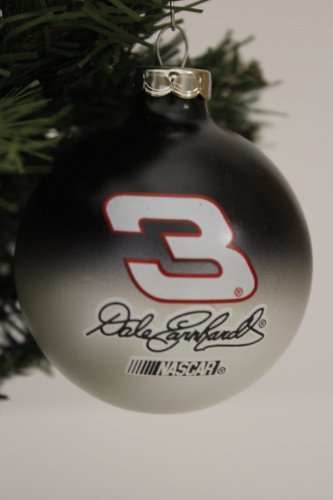 NASCAR #3 Dale Earnhardt Traditional 2 3/4″ Glass Christmas Tree Ornament