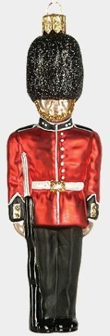 Large London Guard Polish Glass Christmas Ornament
