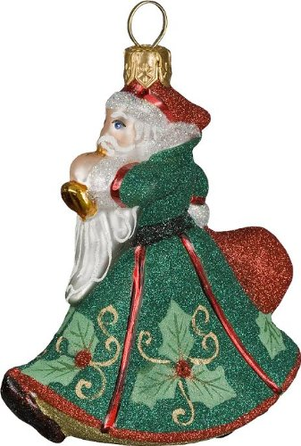 Glitterazzi Mini Holly Berry Trumpeting Santa by Joy To The World Collectibles