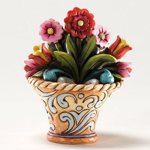 Enesco Jim Shore Heartwood Creek Mini Flower Figurne, 3-1/4-Inch