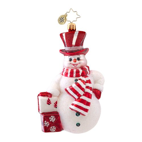 Christopher Radko Prince Frost Snowman Christmas Ornament