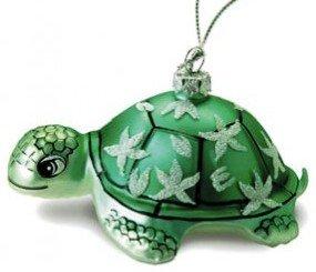 Hawaiian Glass Christmas Ornament – Honu Turtle