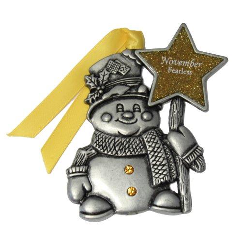 Gloria Duchin November Birthstone Snowman Ornament