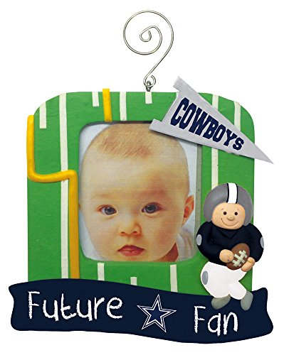 Dallas Cowboys Official NFL 5.25 inch x 5 inch x 2.5 inch Future Fan Photo Frame Christmas Ornament