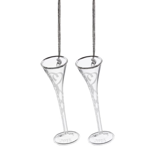 Lenox 2014 Our First Toasting Flute Ornament