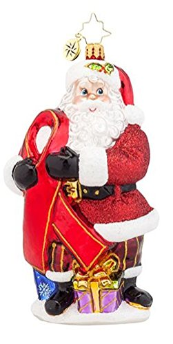 Christopher Radko Caring Claus HIV and Aids Charity Christmas Ornament