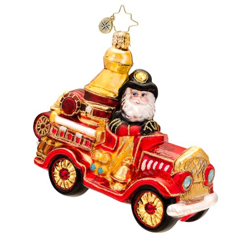 Christopher Radko Five Alarm Santa Ornament