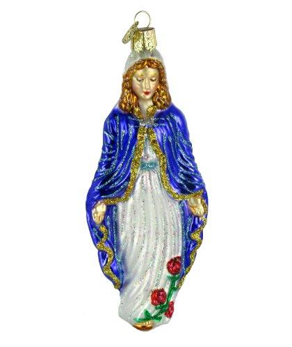 Old World Christmas Virgin Mary Glass Ornament