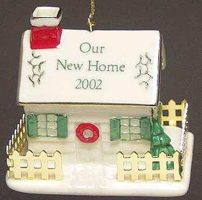 2002 Spode Our New Home Christmas Ornament