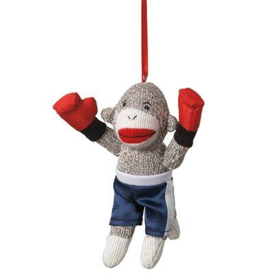 Boxer Sock Monkey Ornament