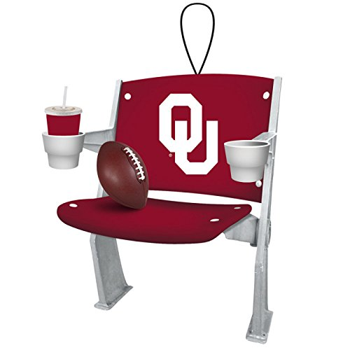 Oklahoma Sooners Official NCAA 4 inch x 3 inch Stadium Seat Ornament by Evergreen