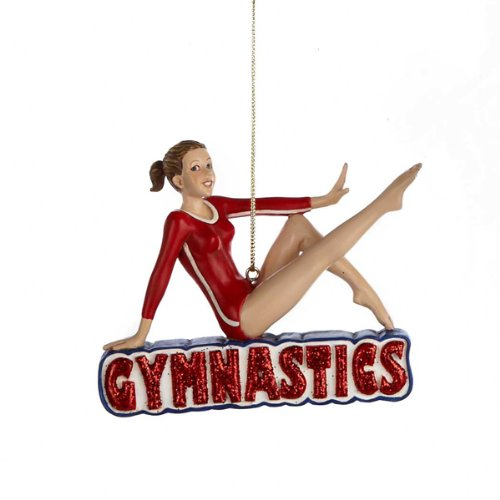 Kurt Adler Gymnastics Girl Christmas Ornament