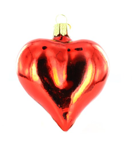 Old World Christmas Large Shiny Heart Ornament