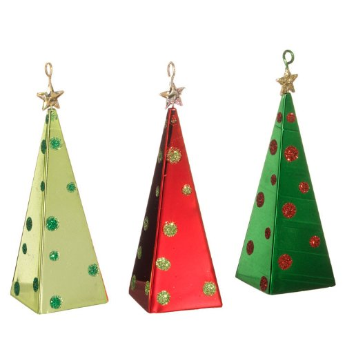 RAZ Imports – Metal Christmas Tree Ornaments 4″