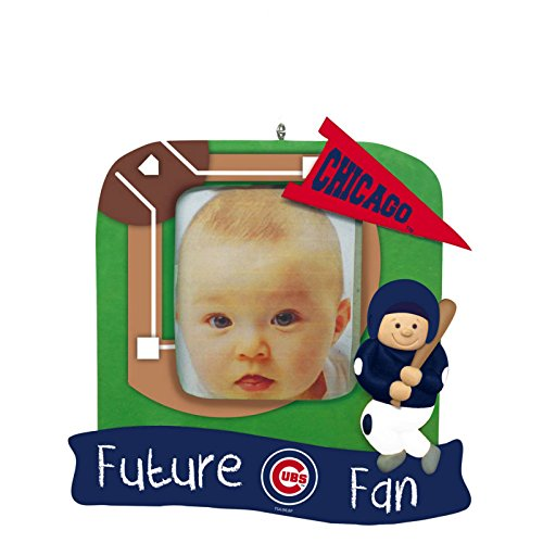 Chicago Cubs Official MLB 5.25 inch x 5 inch x 2.5 inch Future Fan Photo Frame Christmas Ornament by Evergreen