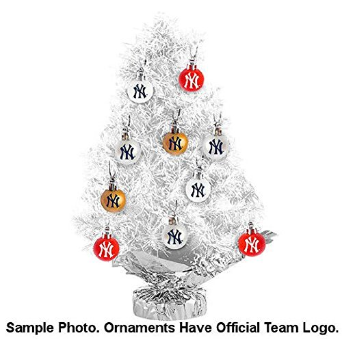 Boston Bruins 16 inch Tree Set: Christmas Tree and Ornament Set