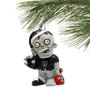 Oakland Raiders NFL Zombie Christmas Ornament