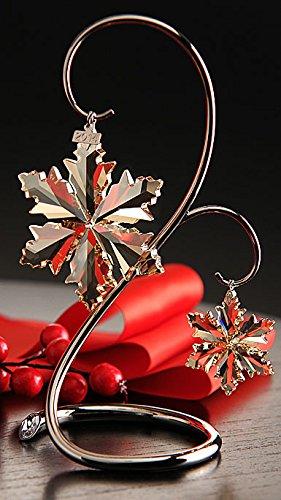Swarovski Crystal Scs Gold Christmas Ornament Set 2014