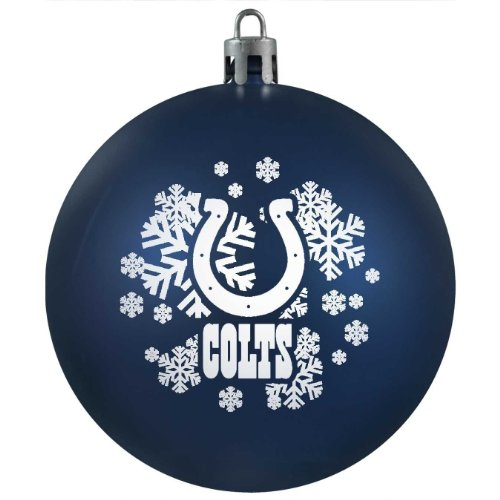 NFL Indianapolis Colts Shatter-Proof Plastic Ornament