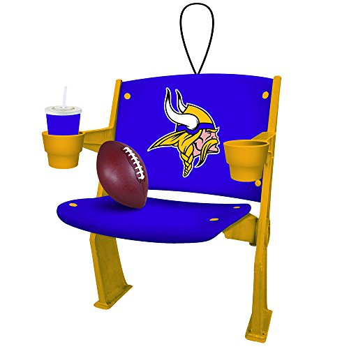 Minnesota Vikings Official NFL 4 inch x 3 inch Stadium Seat Ornament