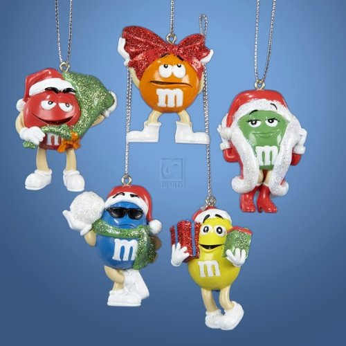 M & M Kurt Adler Miniature Ornaments, 5-Pack