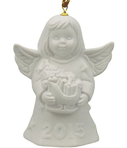 2015 Goebel Annual Dated Angel Bell Ornament White Bisque 40th Edition