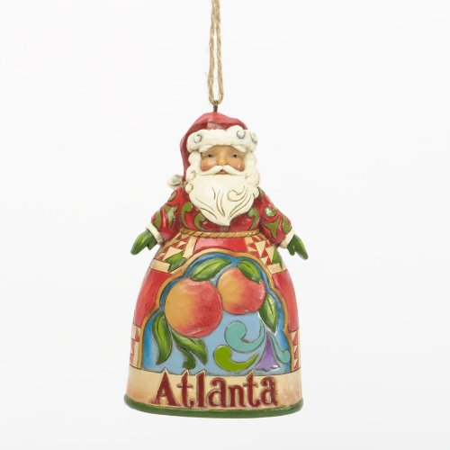 Jim Shore Heartwood Creek ATLANTA Santa Ornament Part of the Santa's Across America Collection