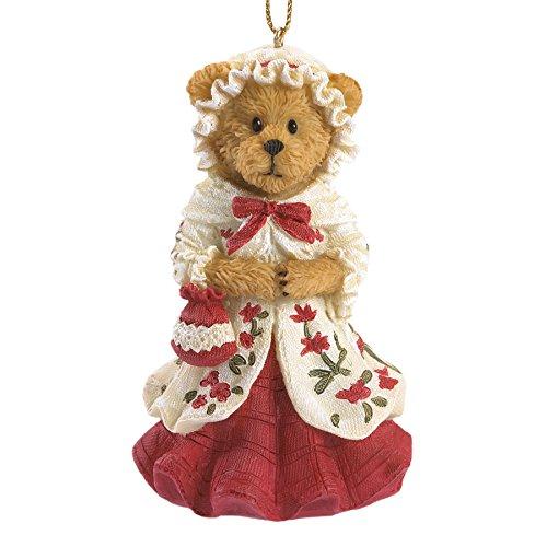 Boyds Bears Williamsburg Abigail Bear Wearing Dress Christmas Ornament