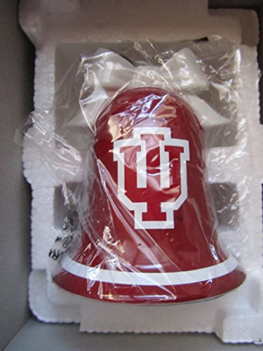Danbury Mint Christmas Bell Ornament 2005 IU Hoosiers Football Team with Box