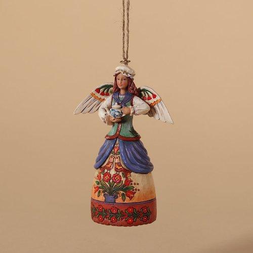 "Jim Shore Heartwood Creek ""Colonial Angel"" Hanging Ornament"