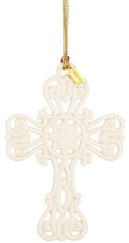 Lenox 2013 Snow Fantasies Cross Ornament
