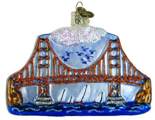Old World Christmas Golden Gate Bridge, 3×4″ Glass Ornament