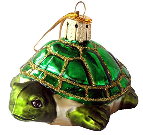 Turtle Blown Glass Christmas Ornament