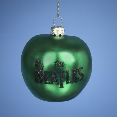 Kurt Adler Beatles Green Apple Glass Christmas Ornament