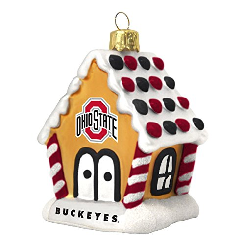 Ohio State Buckeyes Gingerbread House Ornament