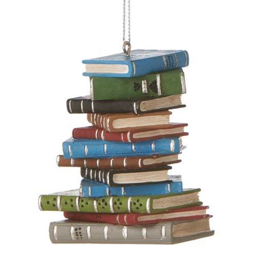 School Book Stack Ornament
