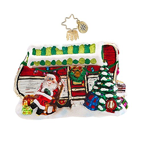 Christopher Radko Holiday Camper Glass Christmas Ornament – New for 2014