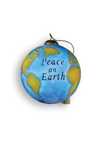 """Ne'Qwa Ornament """"Peace On Earth"""", 2.5-Inches Round, Designed by noted artist Susan Winget"""