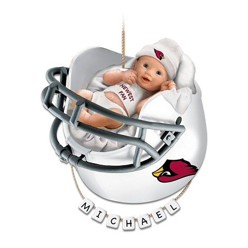 NFL Arizona Cardinals Personalized Baby's First Christmas Ornament by The Bradford Exchange