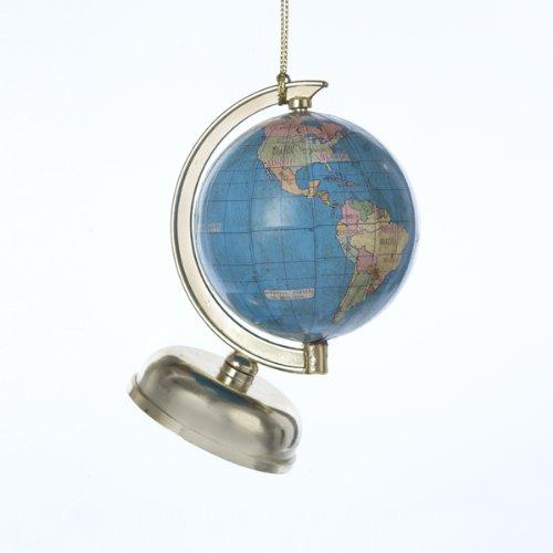 Kurt Adler Plastic Globe Christmas Ornament