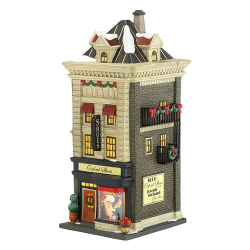 Department 56 Christmas in The City Village Oxford Shoes Lit House, 9.49-Inch