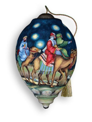 Ne'Qwa Art Oh Come, Let Us Adore Him – New for 2012 – Glass Ornament Distinctive 749-NEQ