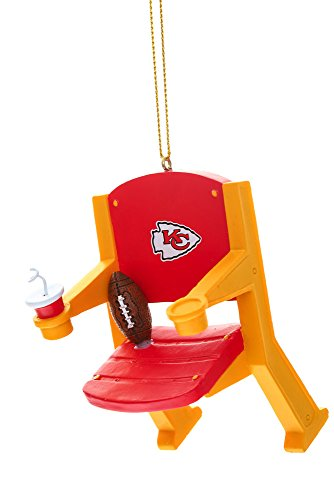 Kansas City Chiefs Official NFL 4 inch x 3 inch Stadium Seat Ornament