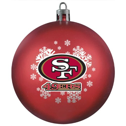 NFL San Francisco 49ers Shatter-Proof Plastic Ornament
